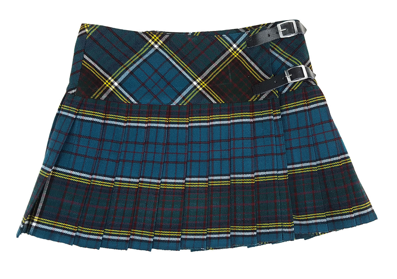 Anderson Homespun Kilted Mini Skirt