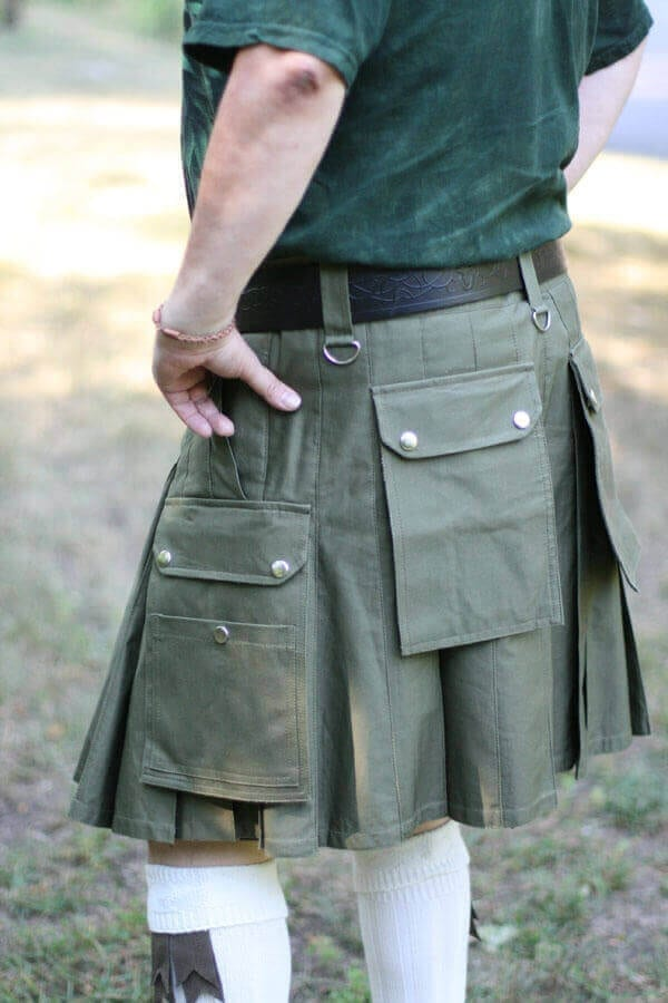 NLA Sage Green In-Stock 34-24 Canvas Kilt
