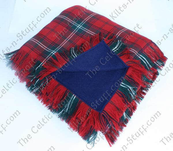 Fleece Lined Tartan Blankets Medium Weight