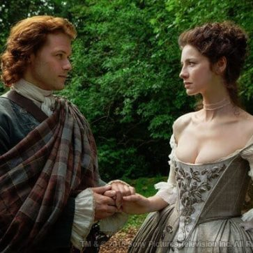 OUTLANDER Jamie's Fraser Wedding Plaid Poly/Viscose Tartan