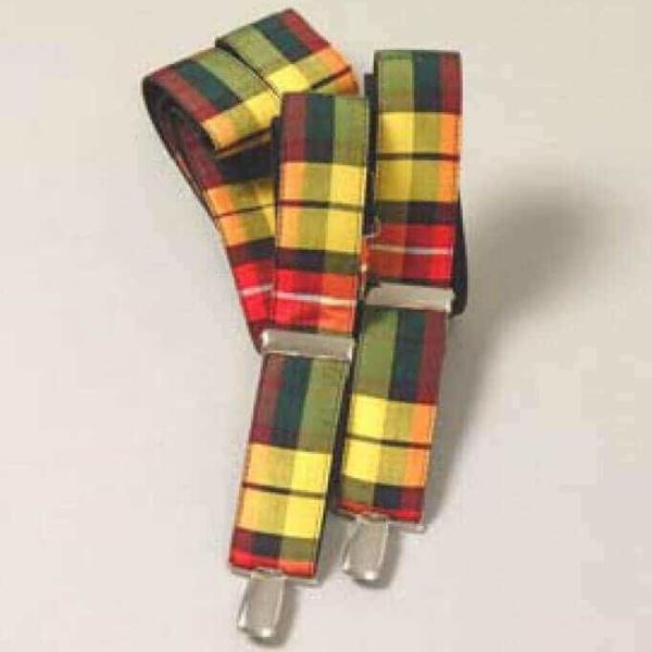 Spring Weight Tartan Suspenders
