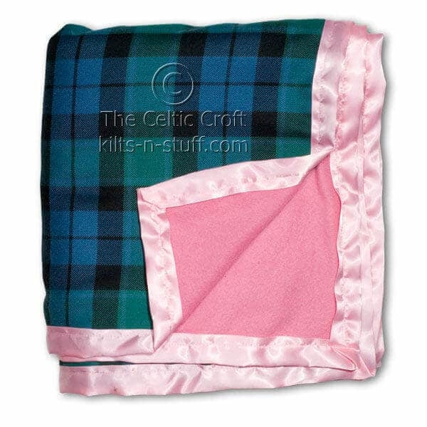 Fleece Lined Tartan Blankets Medium Weight