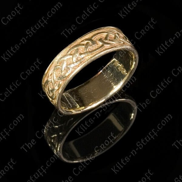Womens 10k Gold Celtic Wedding Band
