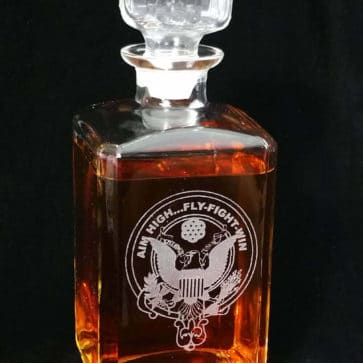 U.S. Air Force Whiskey and Liquor Decanter