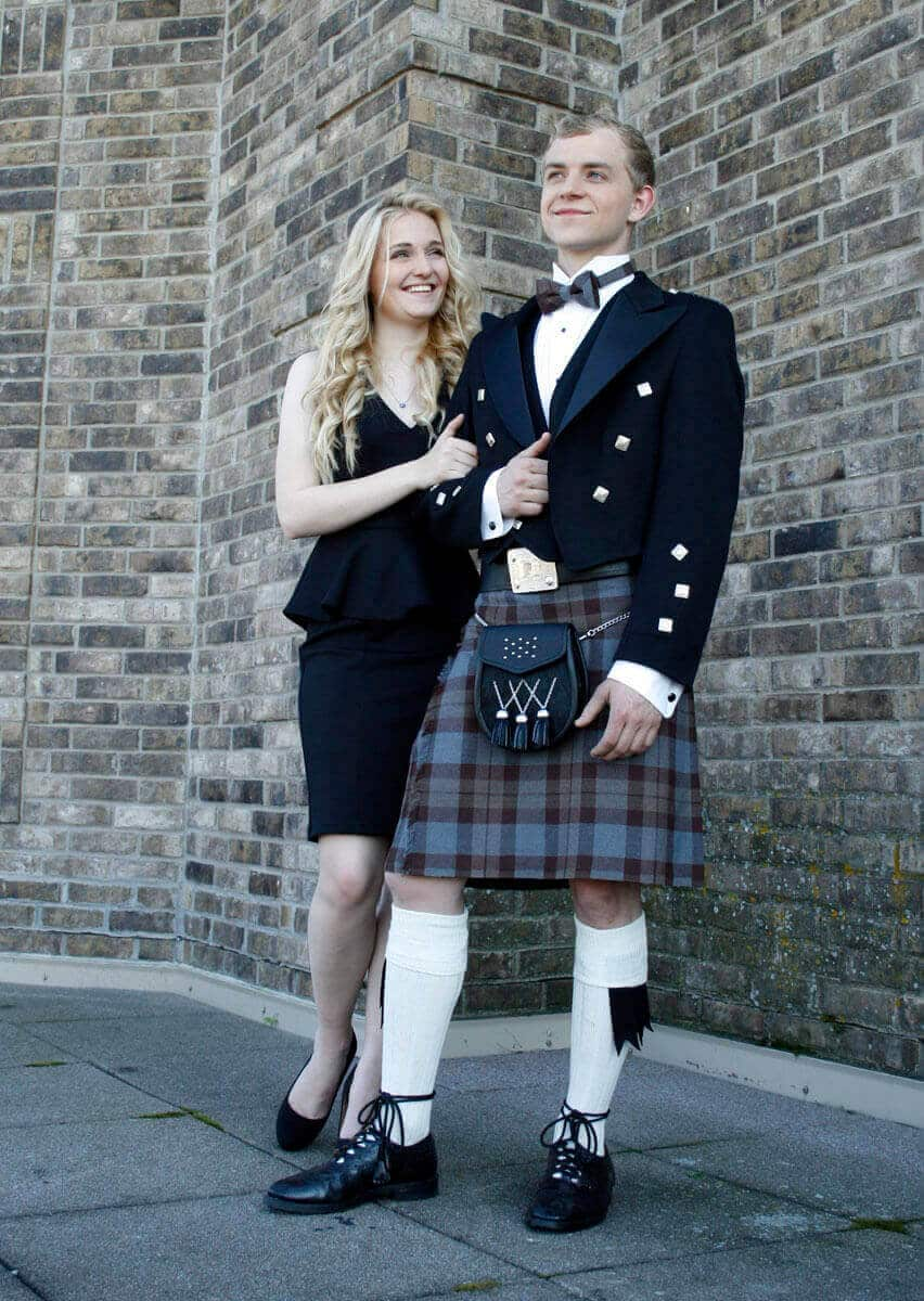 OUTLANDER Formal Kilt Authentic Premium Wool Tartan