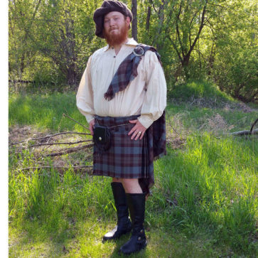 OUTLANDER Phillabeg Poly/Viscose Tartan