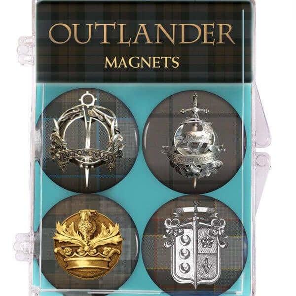 OUTLANDER Tartan Magnets 4-Pack