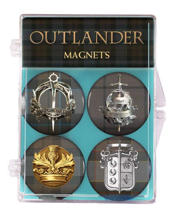 OUTLANDER Tartan Magnets 4-Pack