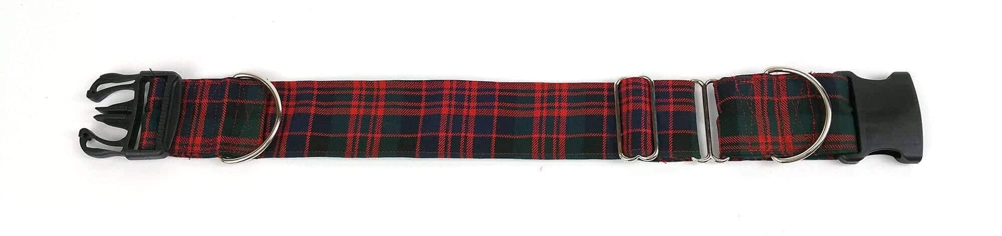 Medium Weight Premium Wool 2-Inch Tartan Dog Collar and Leash Set