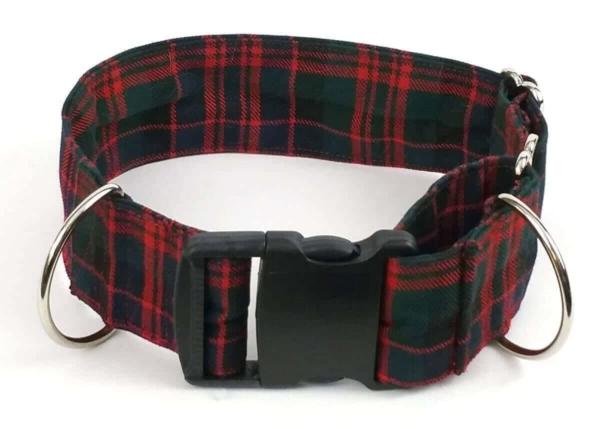 Poly-Viscose 2-Inch Tartan Dog Collar and Leash Set