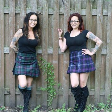 Poly/Viscose Economy Kilted Mini Skirts