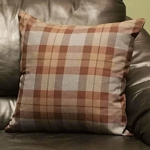 OUTLANDER Throw Pillow Cover Poly/Viscose Tartan