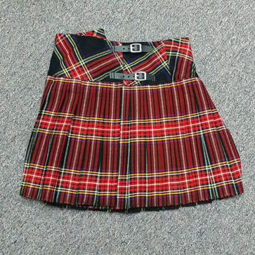 Stewart Black In-Stock 37W 17L Homespun Mini Skirt