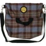 OUTLANDER Tartan Messenger-Style Tote Bag Poly-Viscose