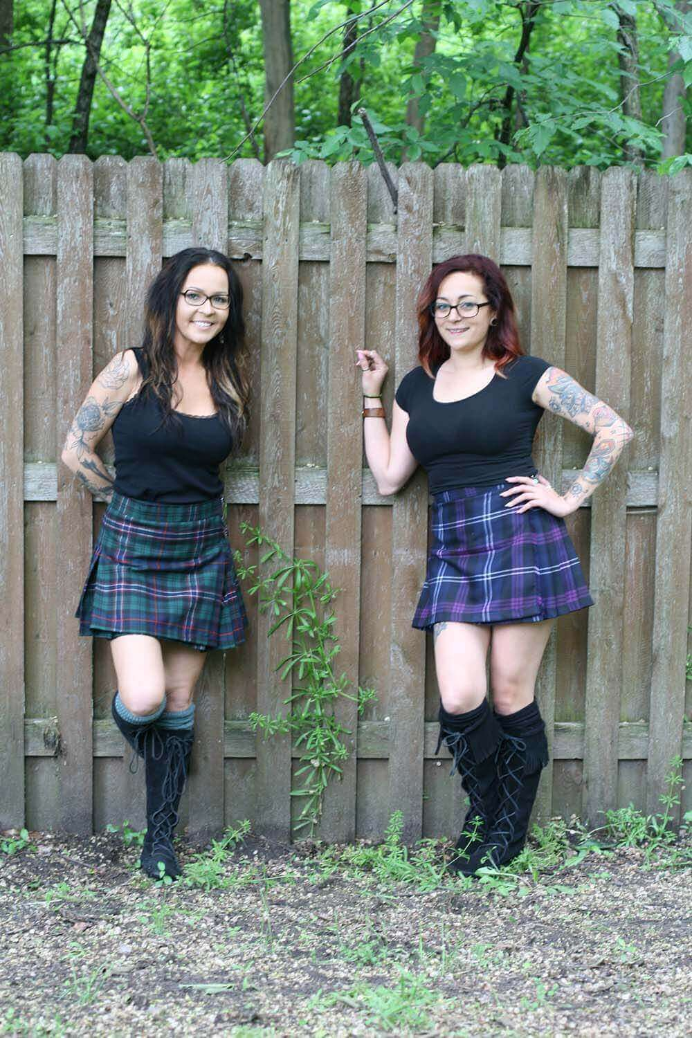 Poly/Viscose Standard Kilted Skirts