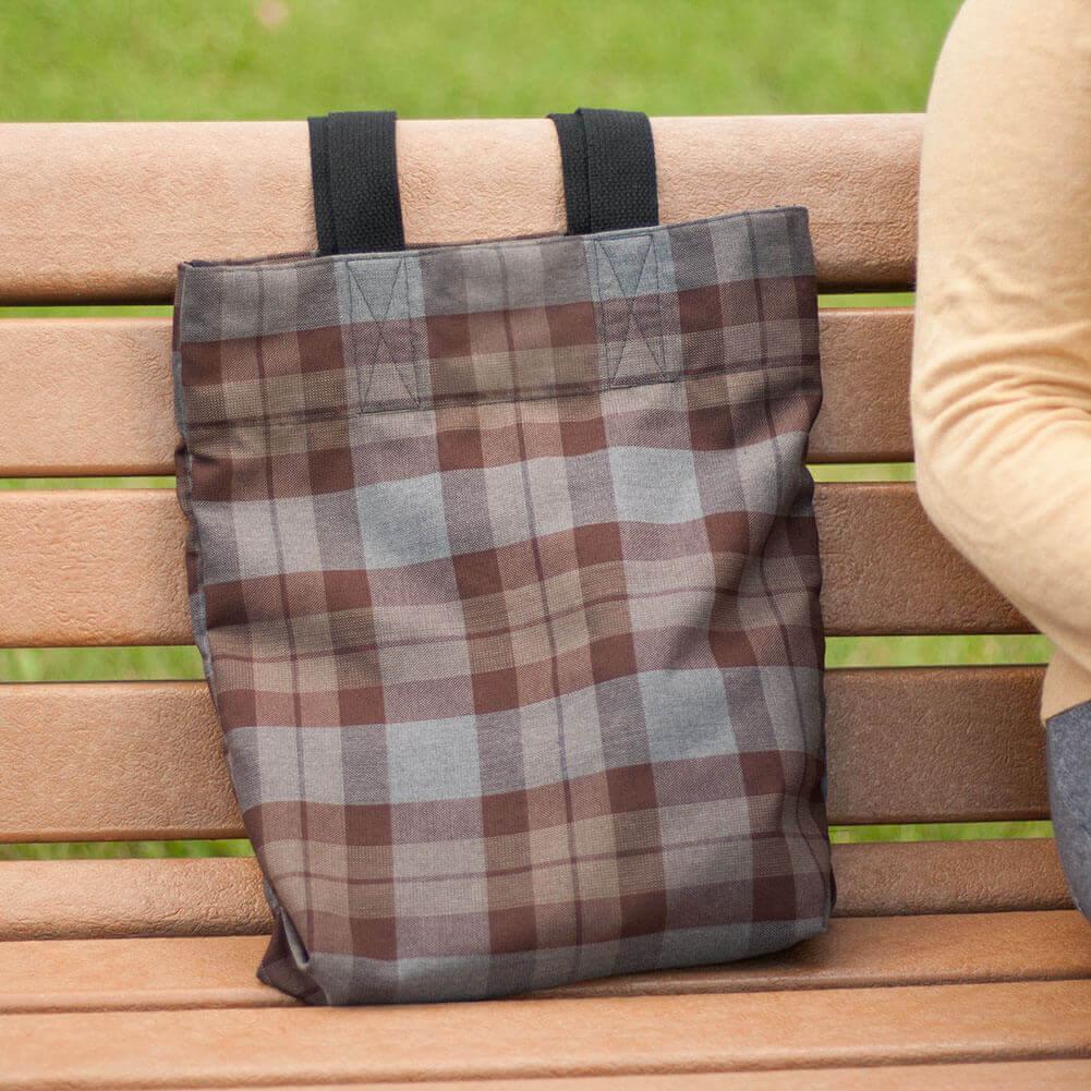 Homespun Wool Blend Tartan Tote Bag
