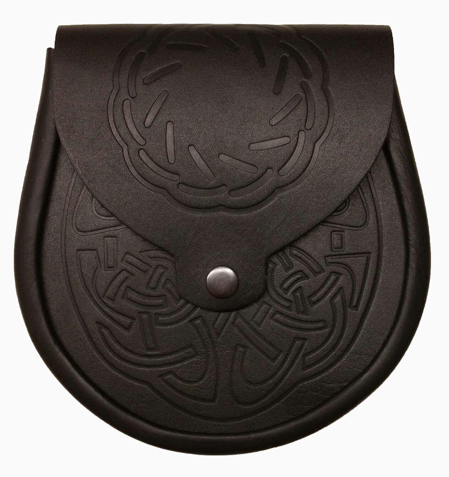 Celtic Circle Embossed Leather Economy Sporran