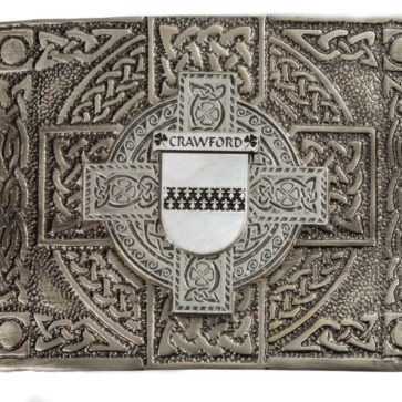 Crawford Coat of Arms Kilt Belt Buckle