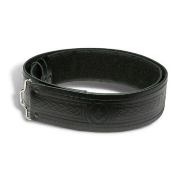 Quality Embossed Masonic Kilt Belt