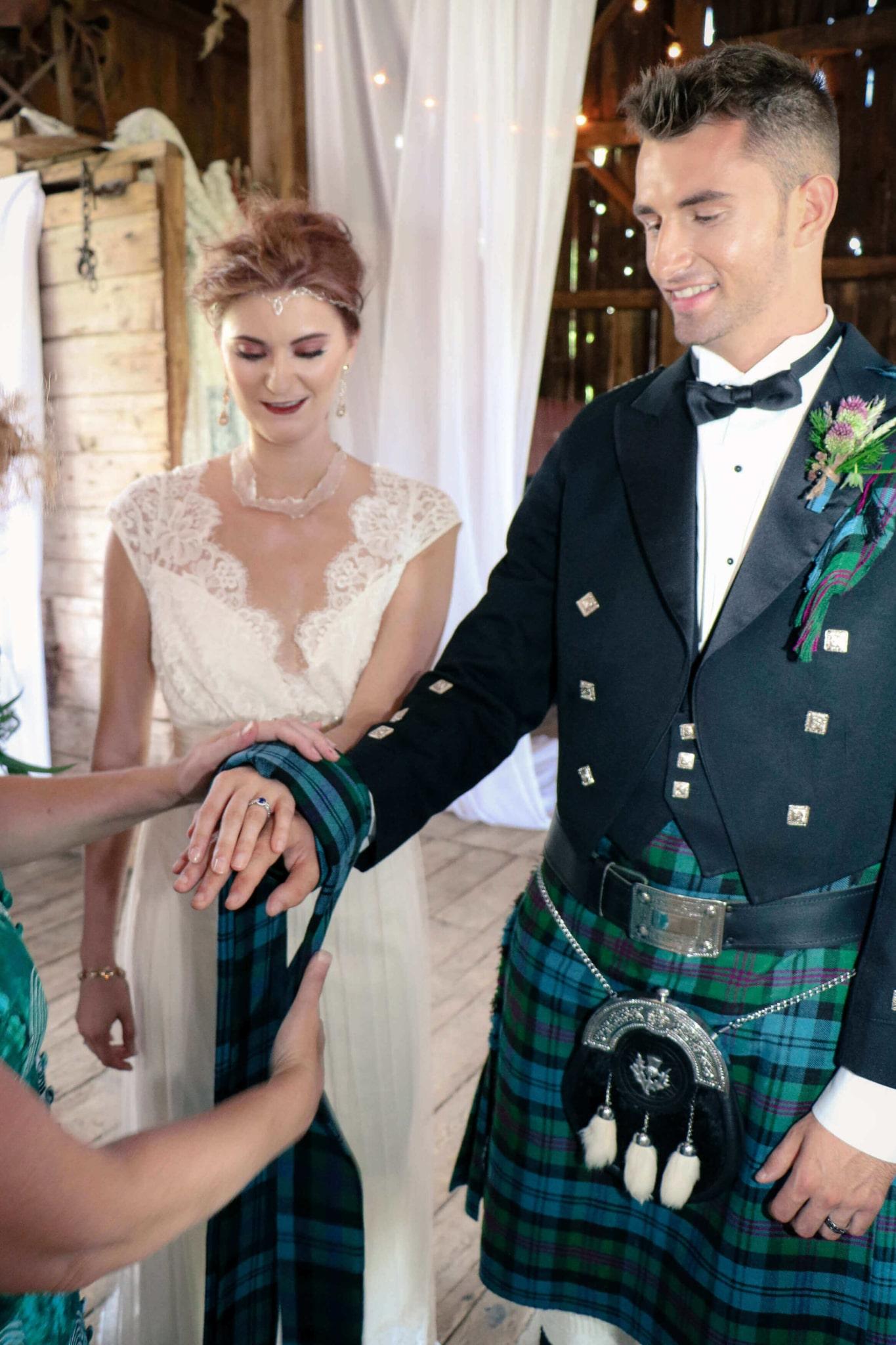 Rental Handfasting ribbon in celtic wedding ceremony