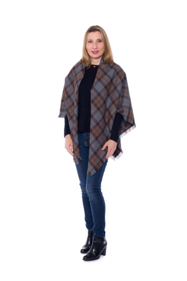 OUTLANDER Shawl Authentic Premium Wool Tartan
