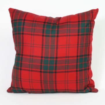 Tartan Throw Pillow (Medium Weight List D)