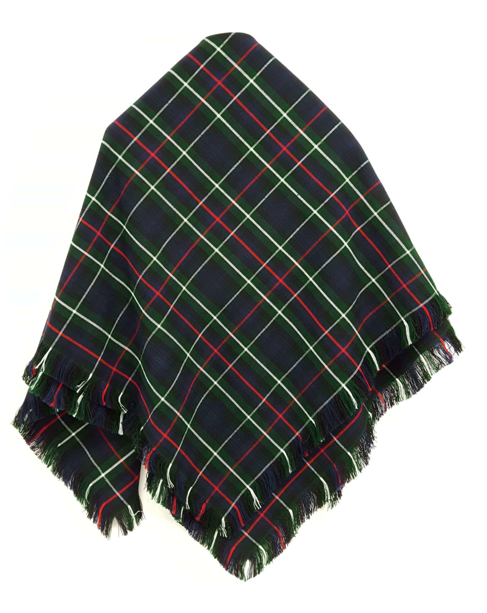 Tartan Shawl, Homespun Wool Blend