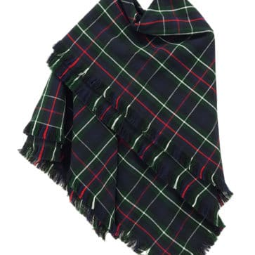 Tartan Shawl, Homespun Wool Blend