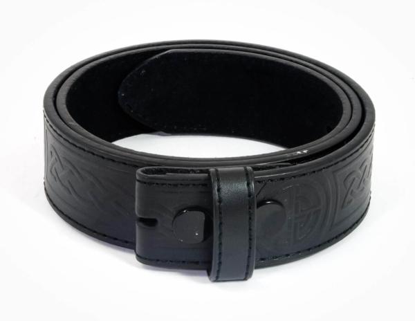 Celtic Knot Embossed Trouser Belt