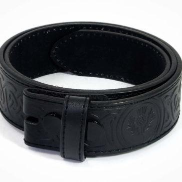 Celtic Thistle Embossed Trouser Belt
