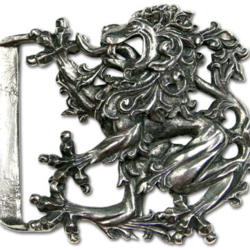 Don McKee Pewter Lion Kilt Belt Buckle