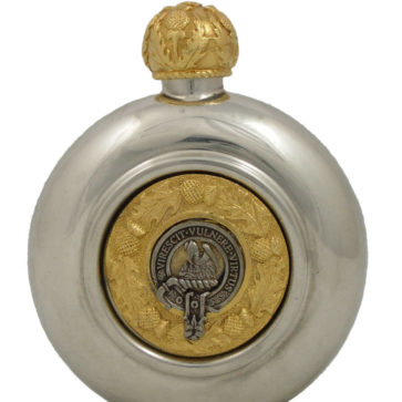Clan Crest Flask with 24ct Gold Accents