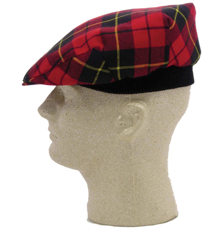 Tartan Driving Cap or Golf Cap - Spring Weight