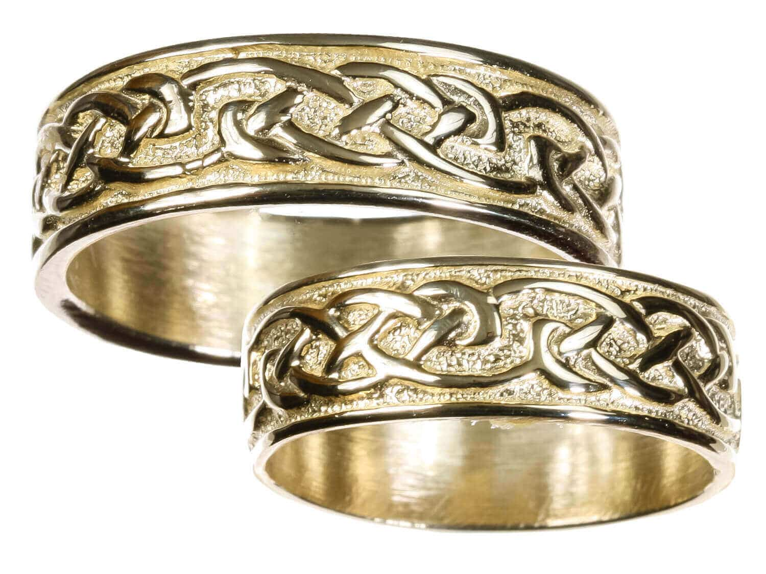 It is just an image of Mens 43K Gold Celtic Wedding Band
