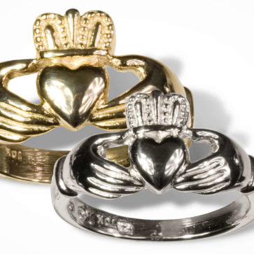 Mens Sterling Silver Claddagh Wedding Ring