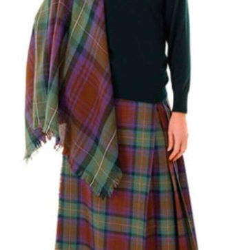 Tartan Shawl, Light Weight Premium Wool