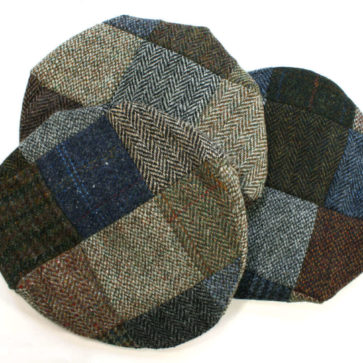 Harris Tweed Patchwork Caps