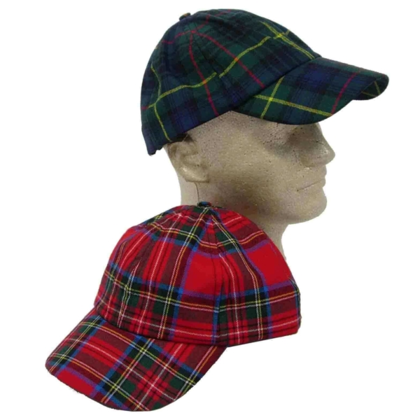 Tartan Ball Cap 8oz wool