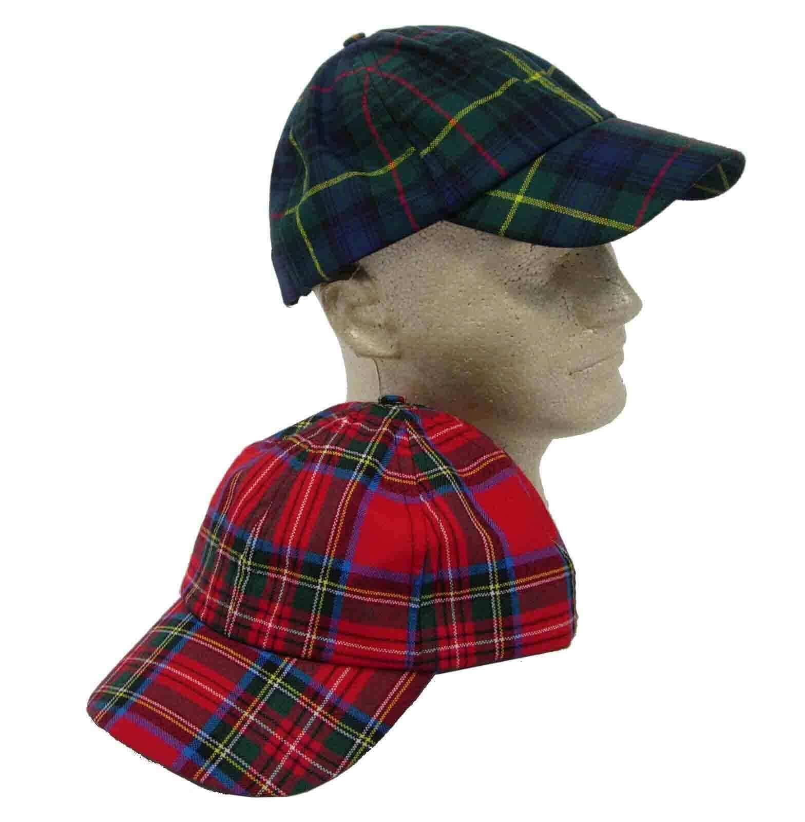 Tartan Ball Cap 8oz wool