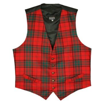 Men's Tartan Vest 8oz wool
