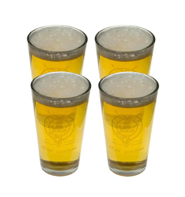 Clan Crest 14 oz. Glass Set of 4