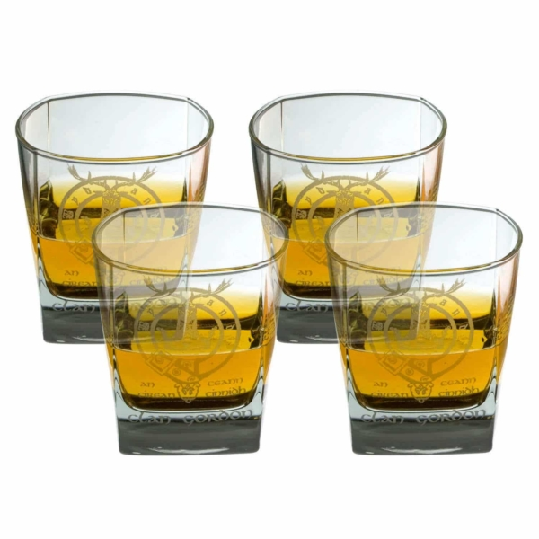Clan Crest Whisky Glass Set of 4