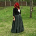 Full Length Homespun Wool Gathered Skirt