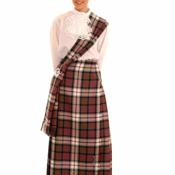 Poly Viscose Hostess Kilted Skirt