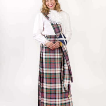 Light Weight Premium Wool Hostess Kilted Skirt (Tartan List A & B)