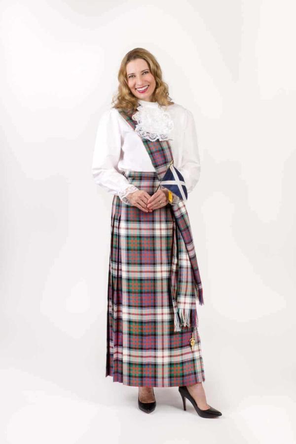 Light Weight Premium Wool Hostess Kilted Skirt (Tartan List A & B)