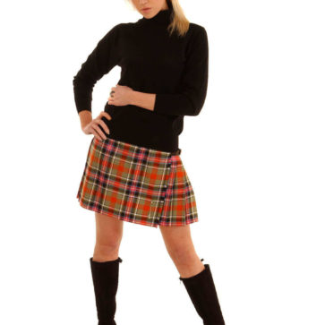 Light Weight Premium Wool Kilted Mini Skirt (Tartan list A)