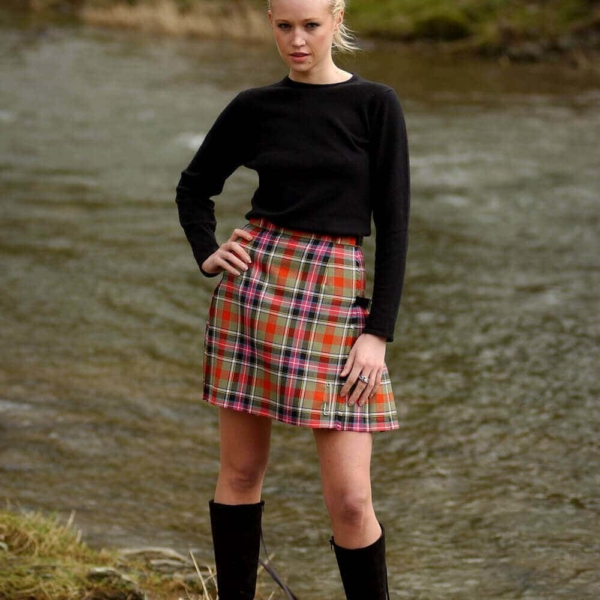 Light Weight Premium Wool Kilted Mini Skirt (list B)