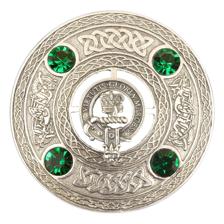 Clan Crest Plaid Brooch