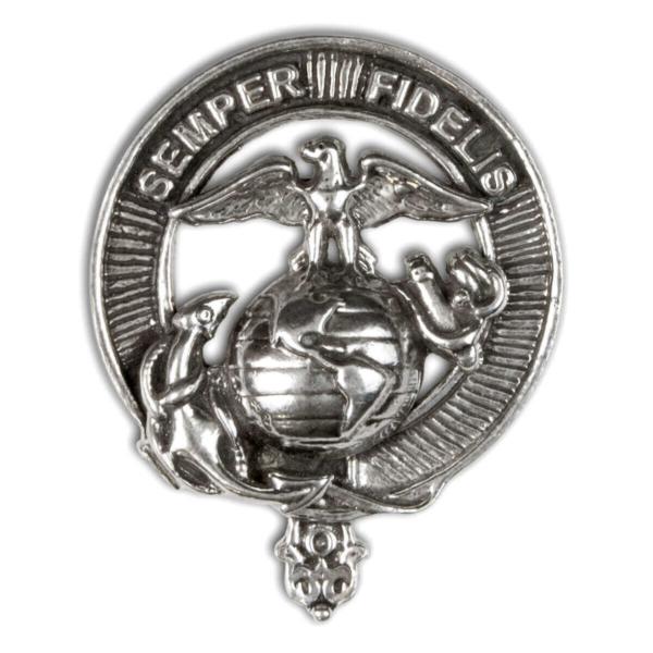 U.S. Marine Corps Sterling Silver Cap Badge/Brooch